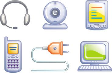 Electronics - Vector Icons Set