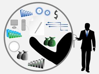 Illustration of businessman