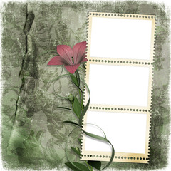 shabby background with stamp-frame