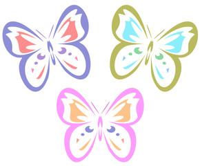 Butterflies (vector)