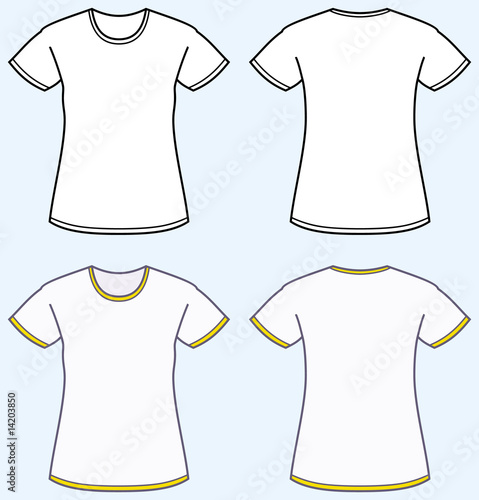 Vector Tshirt Template Front and Back  Clipartme