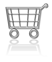 Shopping basket, cart button
