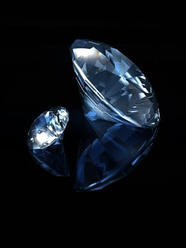 Blue diamonds on black background