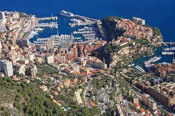 Le rocher et le port de Monaco