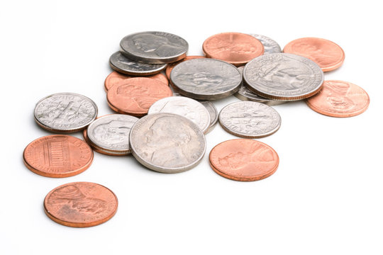 pile of U.S. coins