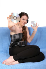 Girl with cd
