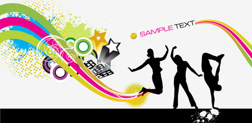Abstract brochure - white background
