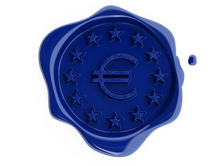 Blue wax euro for mail