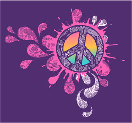 Peace Splatter graphic