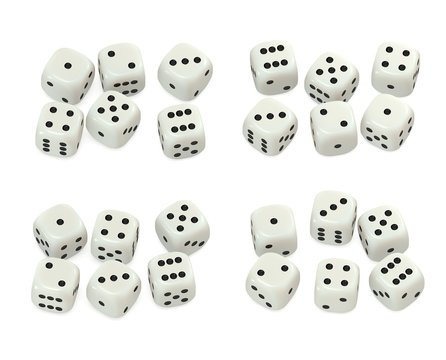 White dice collection