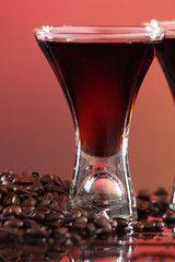 Coffee liquor and grains