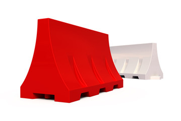 Portable traffic barriers
