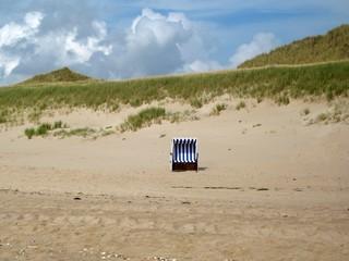 Strandkorb der Einsamkeit