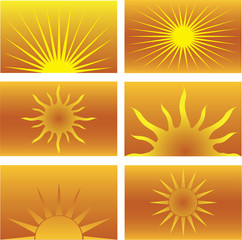 Six Sun Illustrations