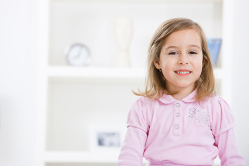 Portrait of cute little girl