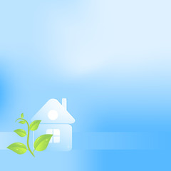 Eco background with a house