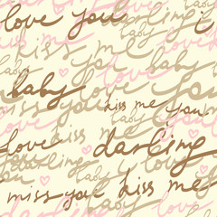 romantic letter - seamless vector pattern