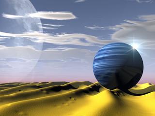 le désert et l'eau
