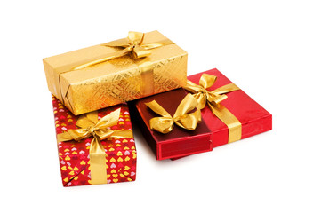 Gift box isolated on the white background