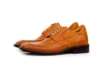 Orange shoes isolated on the white background