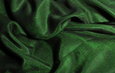 tela brillante verde