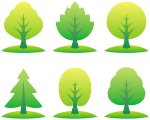 Vector trees illustration