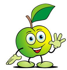 Apfel winkt