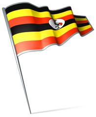 Flag pin - Uganda