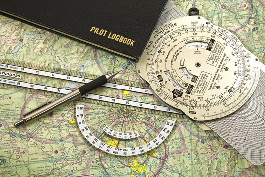 The VFR pilot's tools for Pilotage and dead reckoning.