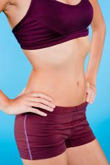 Toned Torso in Purple Sportswear