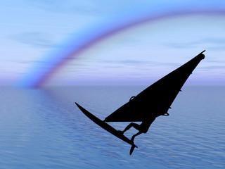 Surfista nell'arcobaleno