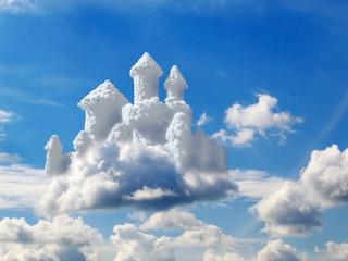 Canvas Prints Heaven fantasy castle in clouds