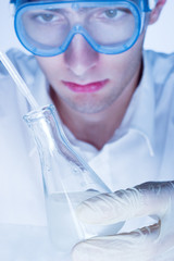 Man working in the chemistry laboratory