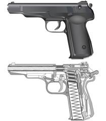 Scheme of russian gun