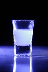 Blue Lit Shot Glass
