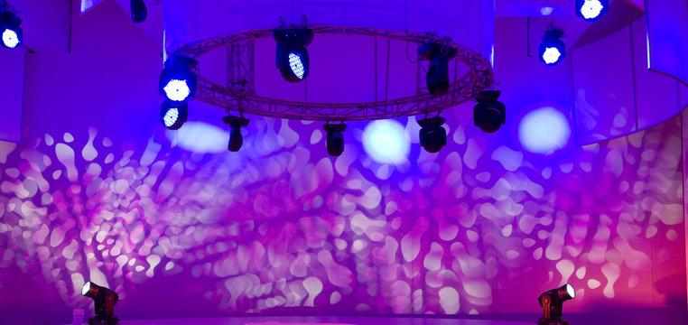 Disco and light show
