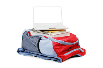 Laptop and backpack