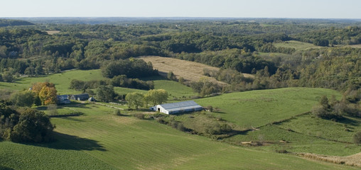 Aerial Photograph of a Farm near Madison, Wisconsin