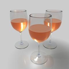 rosewein weingläser