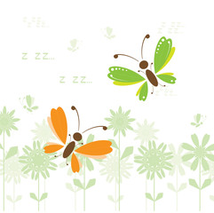Butterflies, summer day
