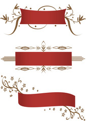 Three detailed banners
