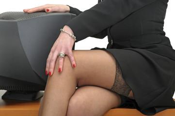 Businesswoman legs