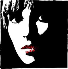 woman face close-up