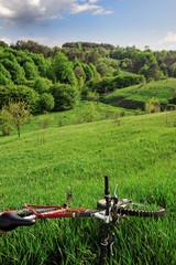 bike wit hills landscape