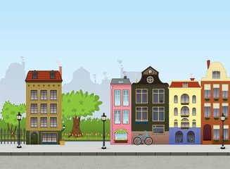 European City Center. Metropolitan Vector Collection.