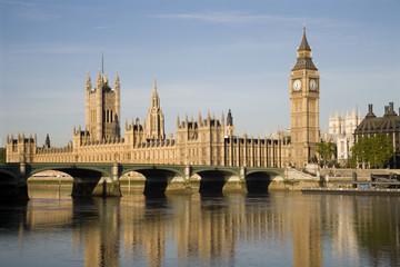 London - parliament in morning light