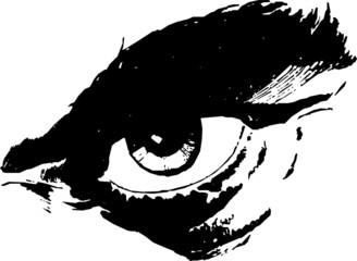 Man's Eye Vector 01