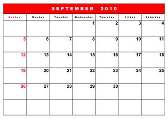 English calendar 11