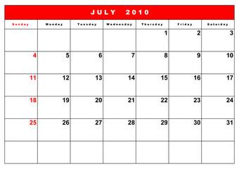 English calendar 7