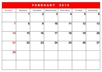 English calendar 6
